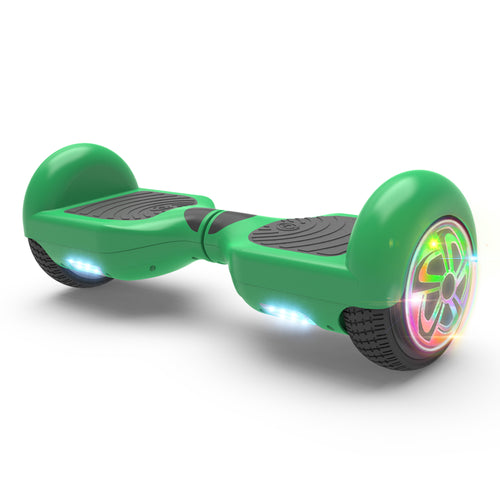"6.5"" Hoverboard Flash Wheel Self Balancing Electric Scooter UL 2272 Certified-Green"