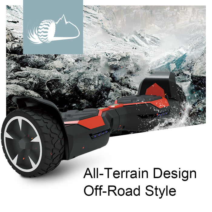 "WheelToys Off-Road 8.5""Alloy Wheels All Terrain Hoverboard - UL 2272 Certified Safe"