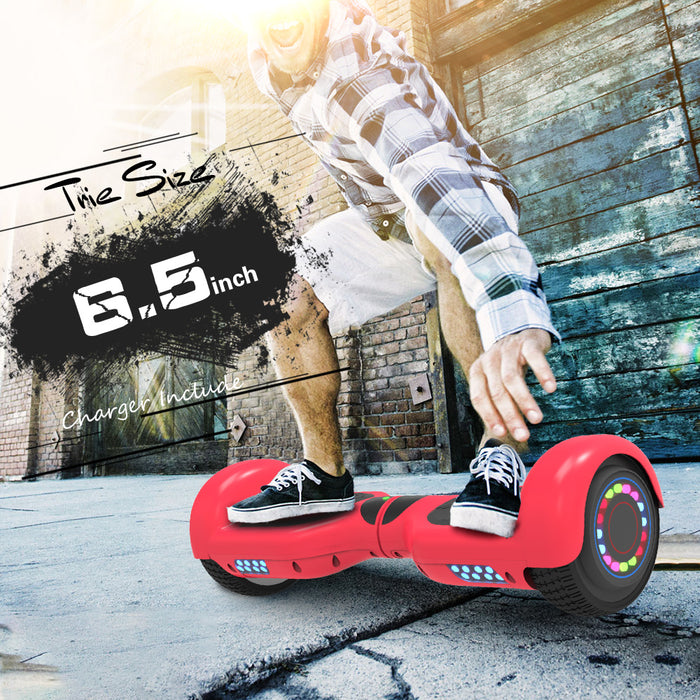"6.5"" UL 2272 Listed Two-Wheel Self Balancing hoverboard with Bluetooth Speaker/ Red"