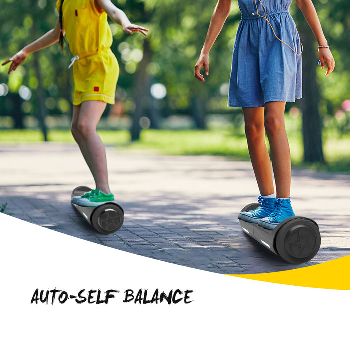 "4.5"" Hoverboard Two-Wheel Self Balance Electric Scooter for Kids UL2272 Listed-Black"