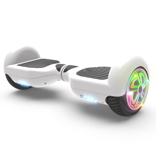 "6.5"" Hoverboard Flash Wheel Self Balancing Electric Scooter UL 2272 Certified-White"