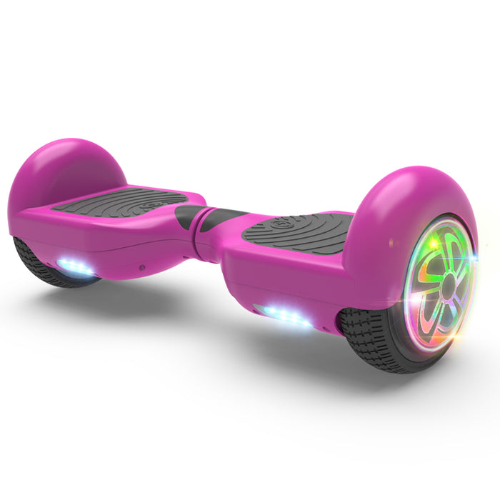 "6.5"" Hoverboard Flash Wheel Self Balancing Electric Scooter UL 2272 Certified-Purple"