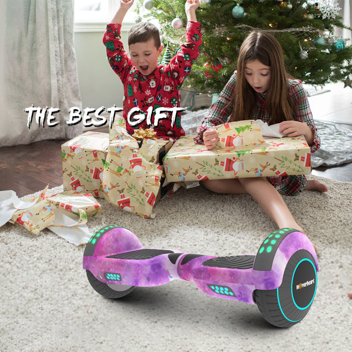 "Kids 6.5"" Galaxy Bluetooth Hoverboard with LED Flash Lights- UL 2272 Certified Self Balancing Wheel"