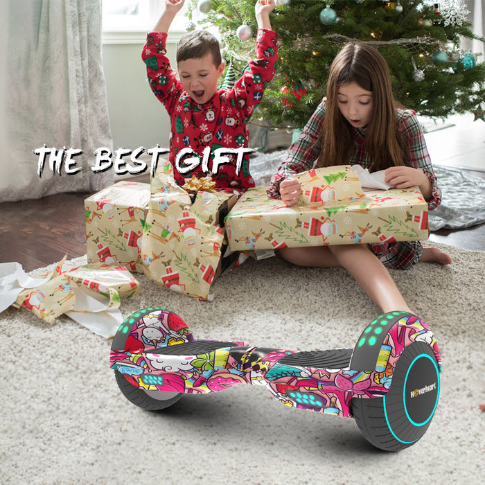 "Prime Kids Print Coating Unicorn 6.5"" Bluetooth Hoverboard with LED Lights-UL Certified"