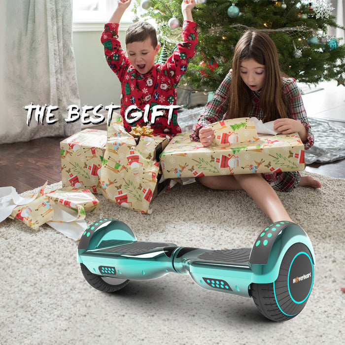"Prime Kids Turquoise 6.5"" Bluetooth Hoverboard with LED Lights-UL Certified"