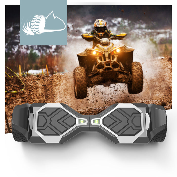 8.5'' White Off Road Hoverboard with Bluetooth Speaker and LED Lights (UL2272 Certified)