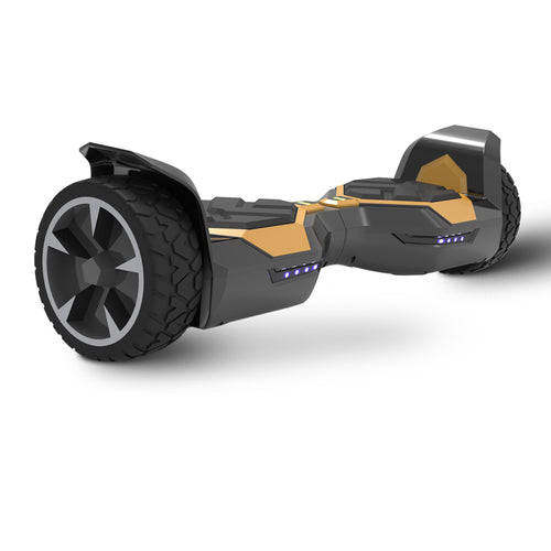 8.5'' All Terrain Black Hoverboard with Bluetooth Speaker and LED Light (UL2272 Certified)