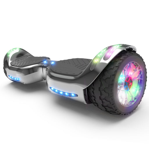 Hoverheart H-Rogue All-Terrain Bluetooth Hoverboard with Light-Up Wheels | Gray