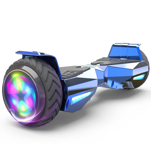 Hoverheart H-Warrior Bluetooth Hoverboard with LED Wheels | Chrome Blue