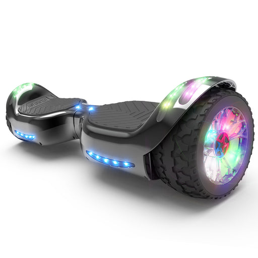 Hoverheart H-Rogue All-Terrain Bluetooth Hoverboard with Light-Up Wheels | Black