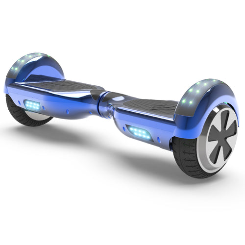 6.5'' Two Wheel Electric Hoverboard With Bluetooth-Chrome Blue