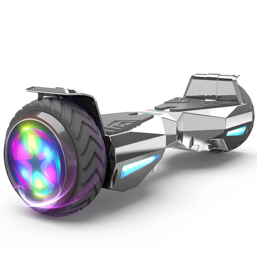 Hoverheart H-Warrior Bluetooth Hoverboard with LED Wheels | Chrome Silver