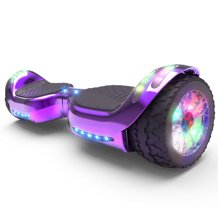 Hoverheart H-Rogue All-Terrain Bluetooth Hoverboard with Light-Up Wheels | Purple