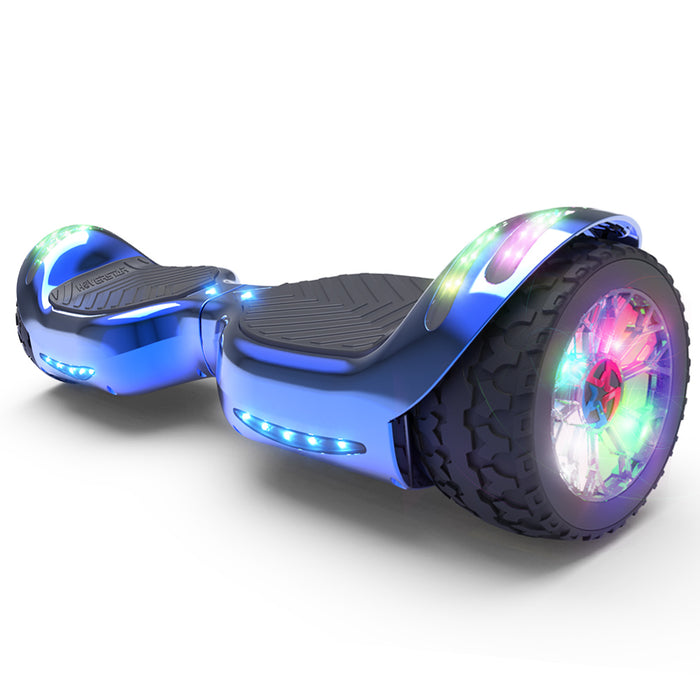 Hoverheart H-Rogue All-Terrain Bluetooth Hoverboard with Light-Up Wheels | Blue