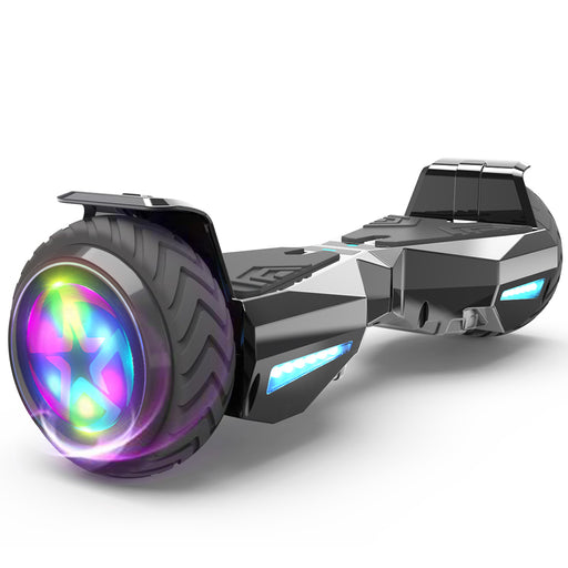 Hoverheart H-Warrior Bluetooth Hoverboard with LED Wheels | Chrome Black