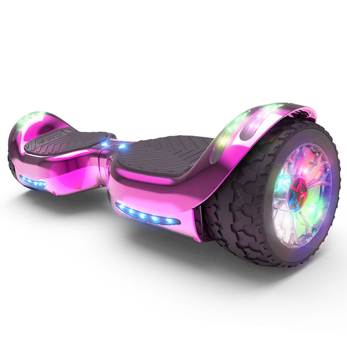 Hoverheart H-Rogue All-Terrain Bluetooth Hoverboard with Light-Up Wheels | Pink