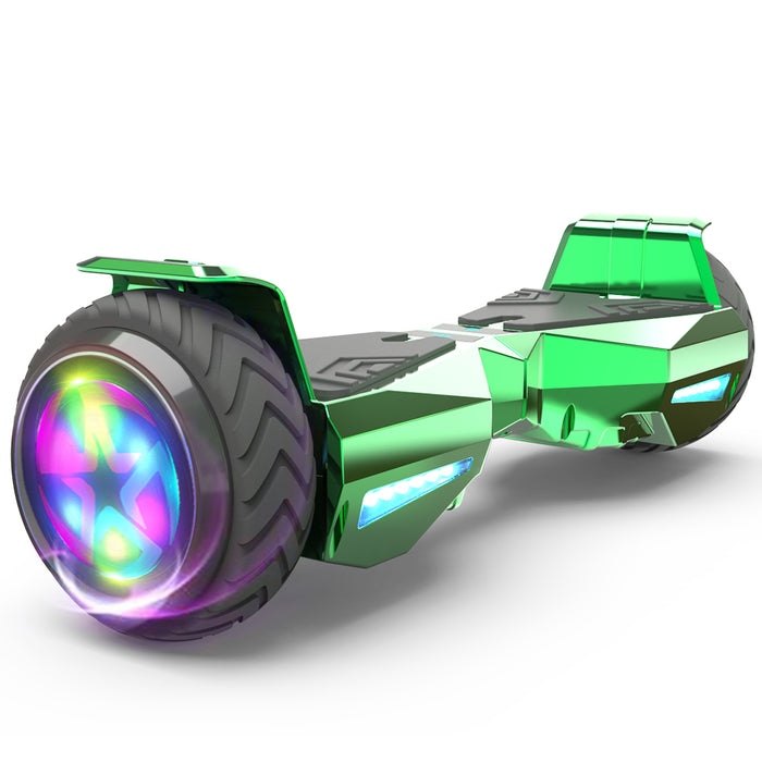 Hoverheart H-Warrior Bluetooth Hoverboard with LED Wheels | Chrome Green