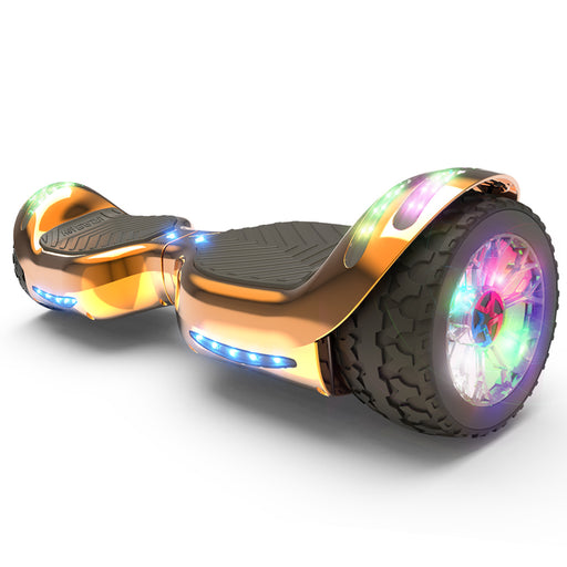 Hoverheart H-Rogue All-Terrain Bluetooth Hoverboard with Light-Up Wheels | RoseGold