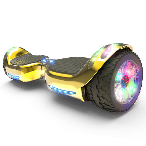 Hoverheart H-Rogue All-Terrain Bluetooth Hoverboard with Light-Up Wheels | Gold