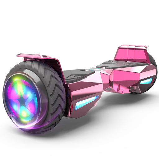 Hoverheart H-Warrior Bluetooth Hoverboard with LED Wheels | Chrome Pink