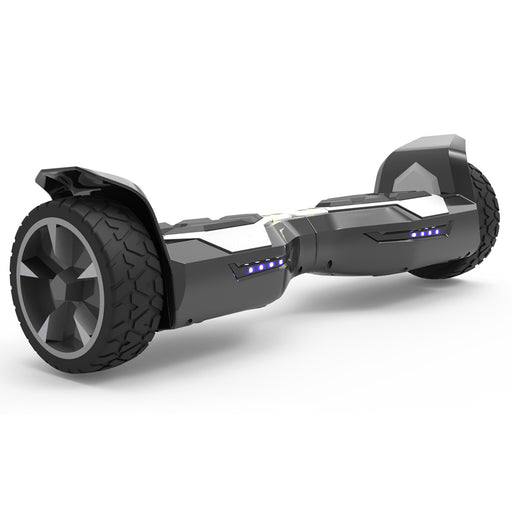 "WheelToys Off Road 8.5"" Silver Alloy Wheels All Terrain Heavy Duty Hoverboard - UL 2272 Certified Safe"