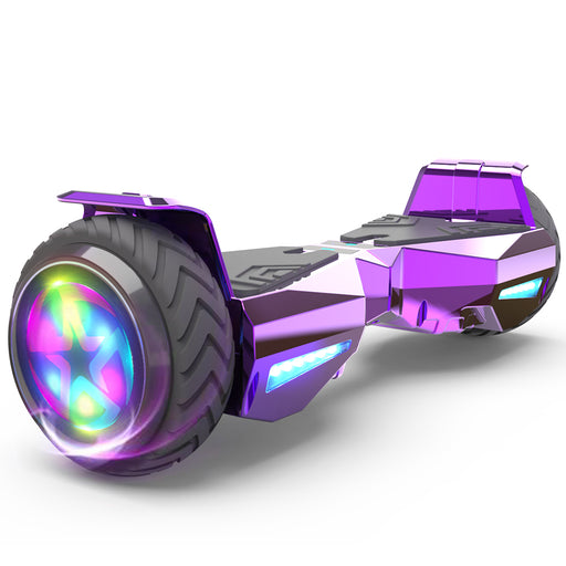 Hoverheart H-Warrior Bluetooth Hoverboard with LED Wheels | Chrome Purple