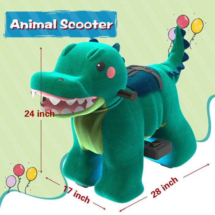 Electric Stuffed Ride on Crocodile Animals for 3-7 Years Old