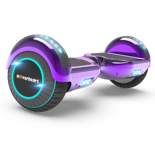 "Prime Kids Purple 6.5"" Bluetooth Hoverboard with LED Lights-UL Certified"