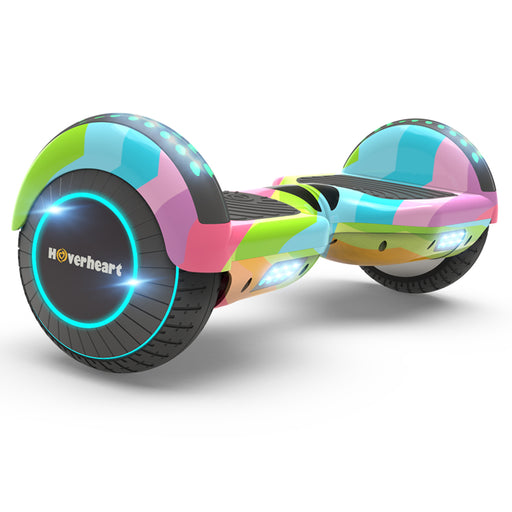 "New 6.5"" Fashion Print Coating Rainbow Wave Hoverboard- LED Lights"