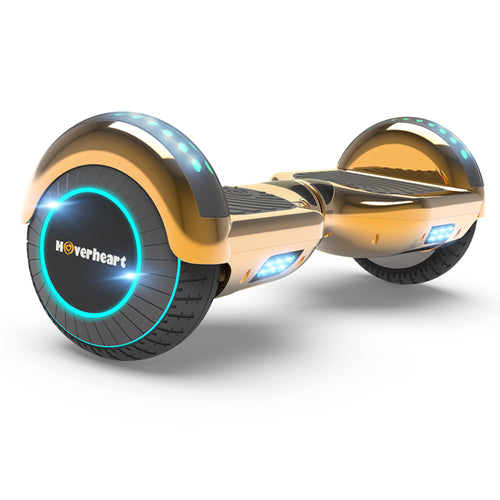 "6.5"" Metallic Bluetooth Kids Hoverboard with LED Lights -Chrome Rosegold"