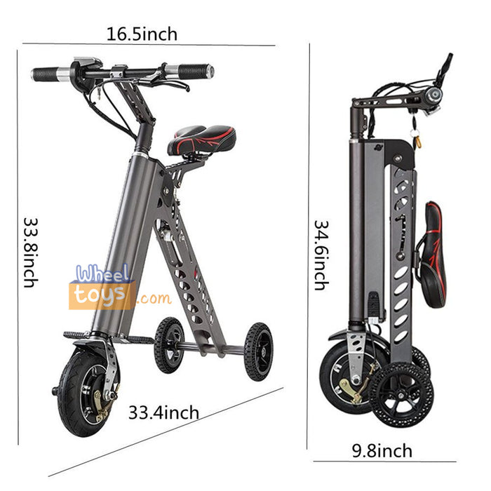 Small Foldable Tri-Wheel Electric Scooter for Travel