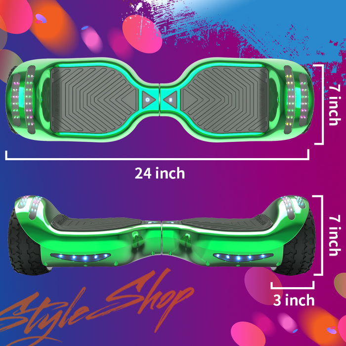 Hoverheart H-Rogue All-Terrain Bluetooth Hoverboard with Light-Up Wheels | Green