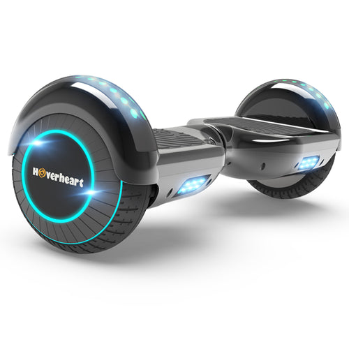 "6.5"" Metallic Bluetooth Kids Hoverboard with LED Lights -Chrome Black"
