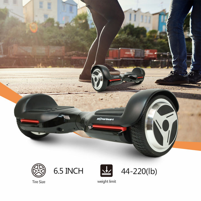 "6.5"" UL 2272 Listed Self Balancing Wheel Electric Scooter With Bluetooth / Black"