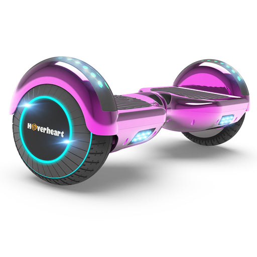 "6.5"" Metallic Bluetooth Kids Hoverboard with LED Lights -Chrome Pink"