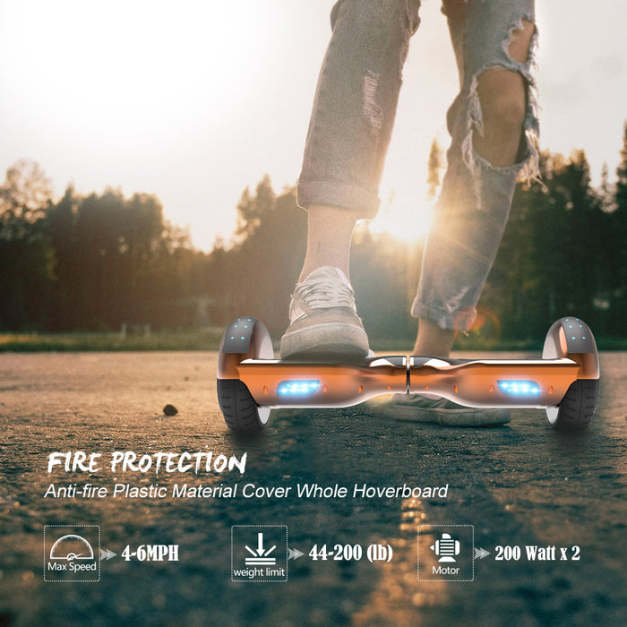 Hoverheart H-Star 6.5'' Self Balancing Hoverboard | Chrome Rosegold