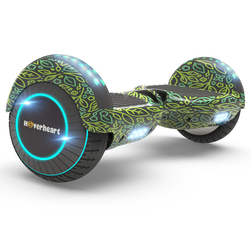 "New 6.5"" Print Coating Green leaf  Hoverboard- UL 2272 Certified"