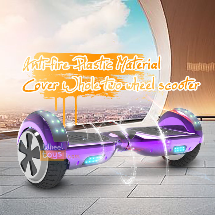 6.5'' Two Wheel Electric Hoverboard With Bluetooth-Chrome Purple