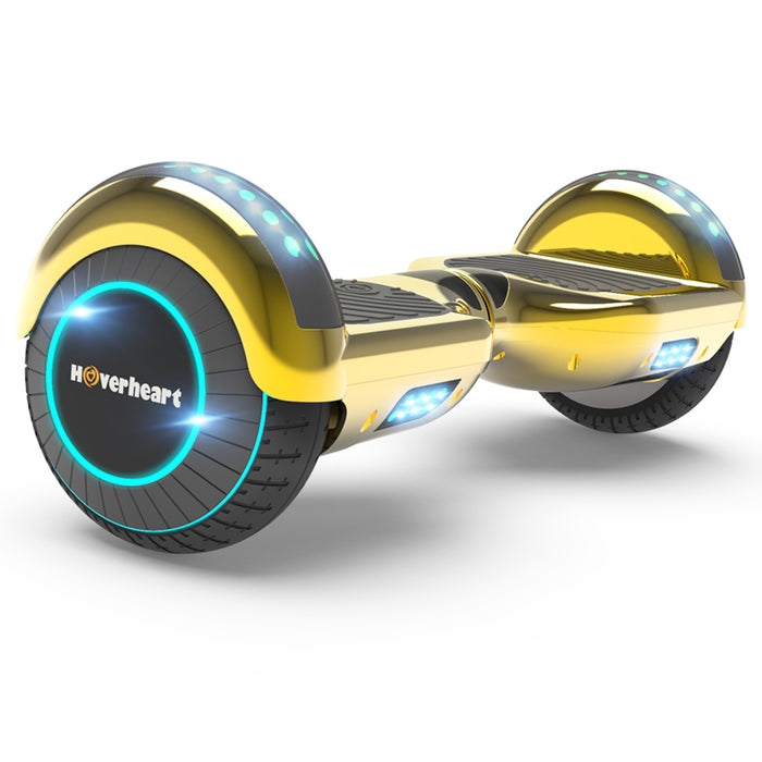 "6.5"" Metallic Bluetooth Kids Hoverboard with LED Lights -Chrome Gold"