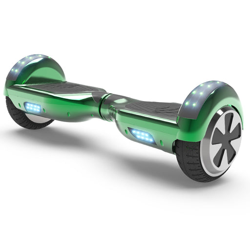6.5'' Two Wheel Electric Hoverboard With Bluetooth-Chrome Green