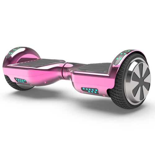 "6.5"" UL Certified Chrome Hoverboard with Bluetooth  -Chrome Pink"