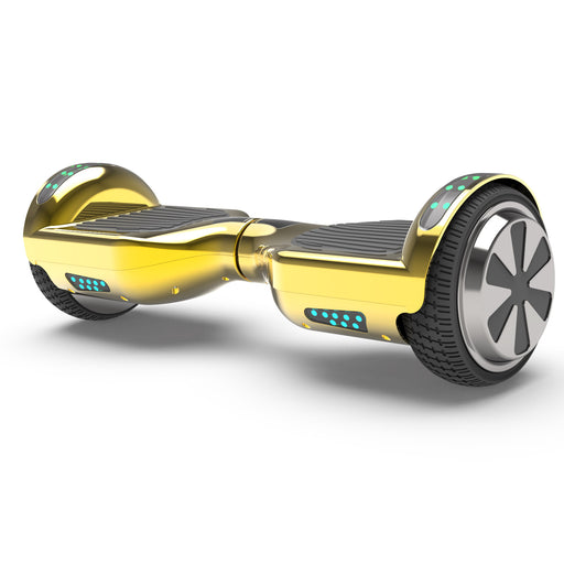 "6.5"" UL Certified Chrome Hoverboard with Bluetooth  -Chrome Gold"