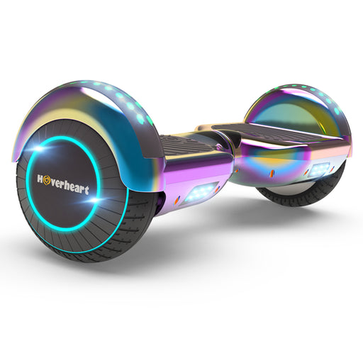 "6.5"" Metallic Chrome Hoverboard for Kids-Chrome rainbow"