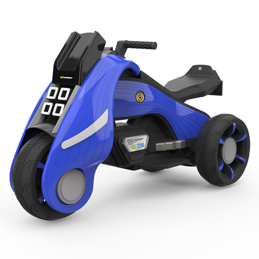 HoverHeart Battery Operated Electric Trike Motorcycles Ride-On for Kids | Blue
