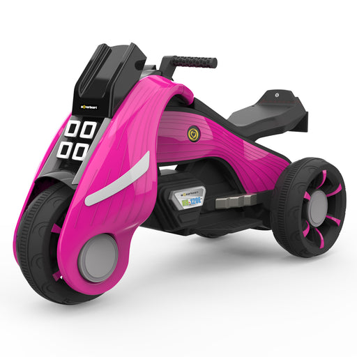 HoverHeart Battery Operated Electric Trike Motorcycles Ride-On for Kids  | Pink