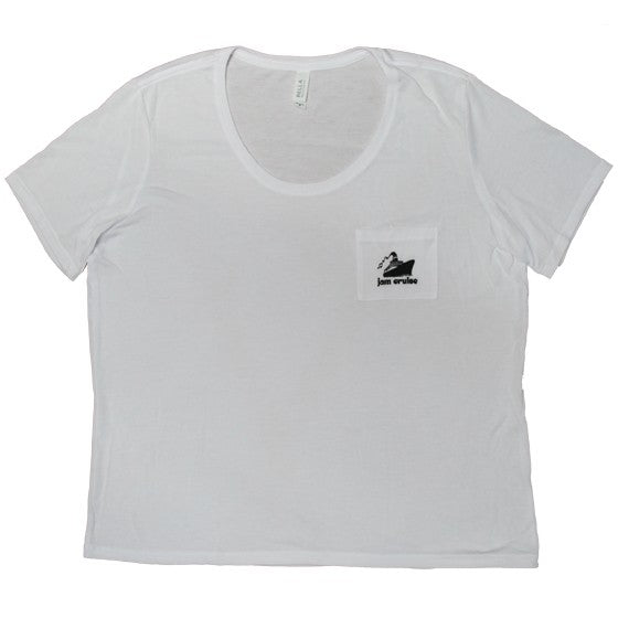 LADIES LOGO POCKET TEE