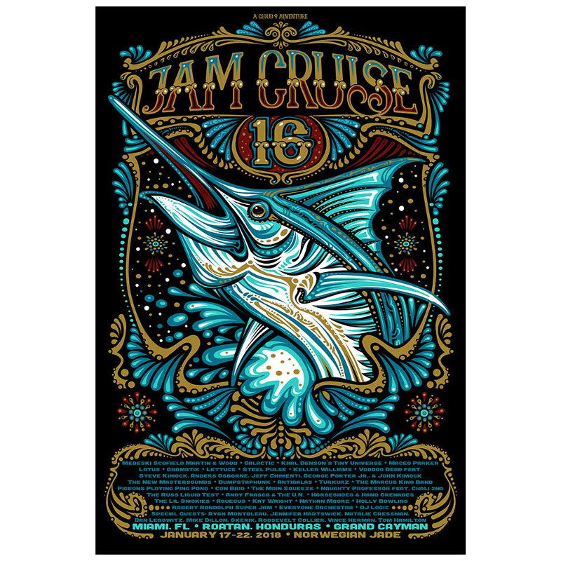 JAM CRUISE 16 MARLIN POSTER