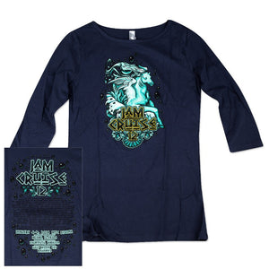 JAM CRUISE 12 JEFF WOOD WOMEN'S SEAHORSE QUARTER SLEEVE