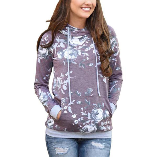 Fashion Printed Sweatshirt For Women Hooded Tops