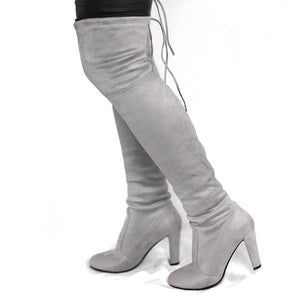 Spring Autumn Woman Boots Fashion Thigh High Heel Boots